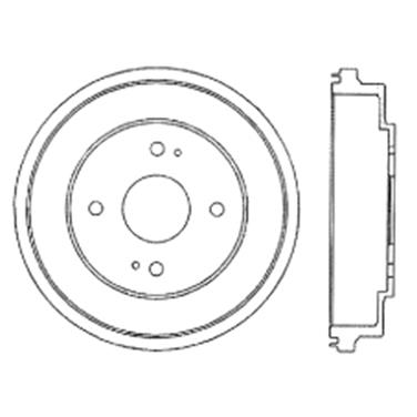 2000 Honda Accord Brake Drum CE 122.40011