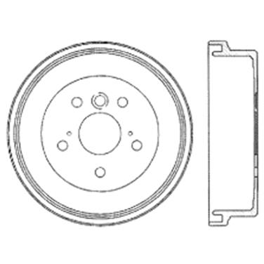 1992 Toyota Camry Brake Drum CE 122.44030