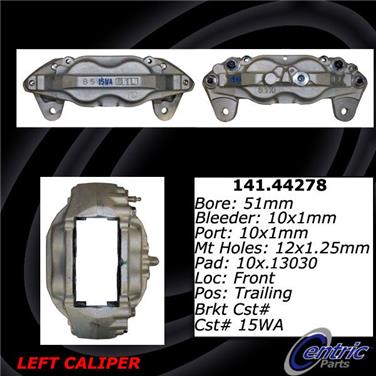 Cardone 19-3955 Remanufactured Import Friction Ready Brake Caliper A1 Cardone Unloaded