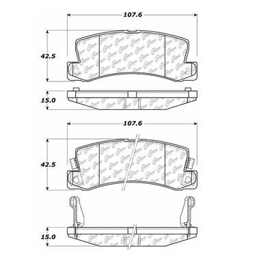 1993 Toyota Camry Disc Brake Pad Set CE 300.03250