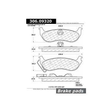 Centric Parts 100.09310 100 Series Brake Pad