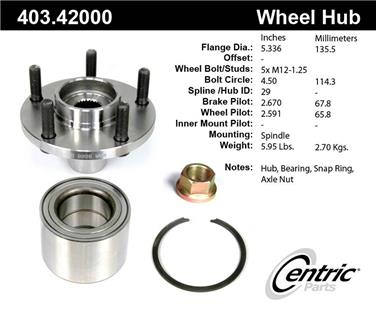 Axle Bearing and Hub Assembly Repair Kit CE 403.42000E