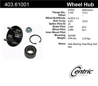 Axle Bearing and Hub Assembly Repair Kit CE 403.61001E