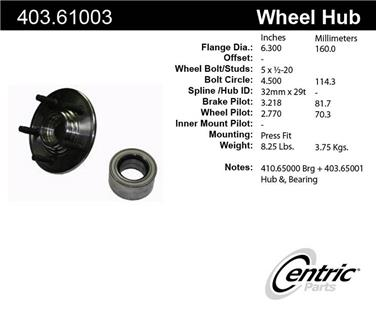 Axle Bearing and Hub Assembly Repair Kit CE 403.61003E