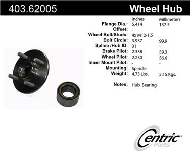 Axle Bearing and Hub Assembly Repair Kit CE 403.61005
