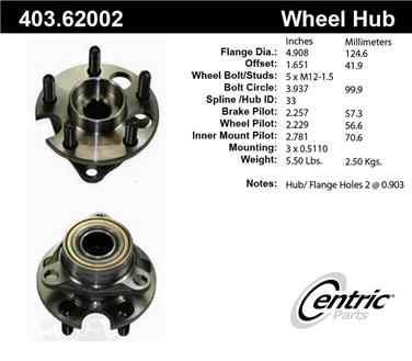Axle Bearing and Hub Assembly Repair Kit CE 403.62002E
