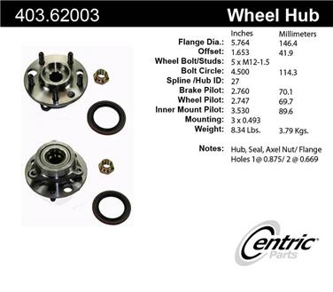 Axle Bearing and Hub Assembly Repair Kit CE 403.62003E