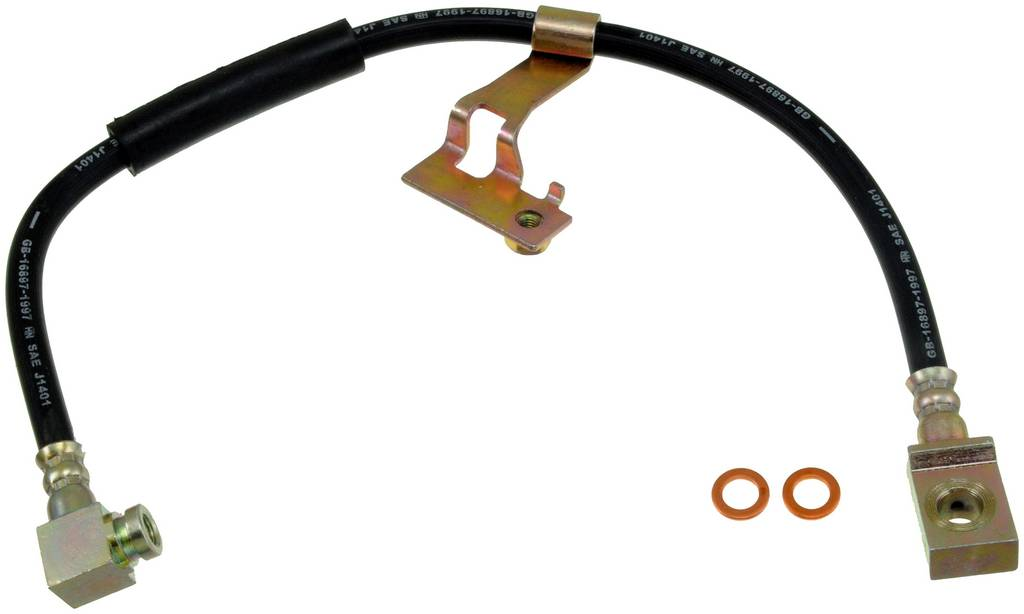 Orange Hose /& Stainless Green Banjos Pro Braking PBC1204-ORA-GRE Braided Clutch Line