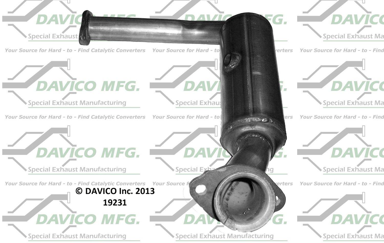 Catalytic Converter-Exact-Fit Front Davico Exc CA 19225