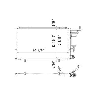 A/C Condenser TY 4321