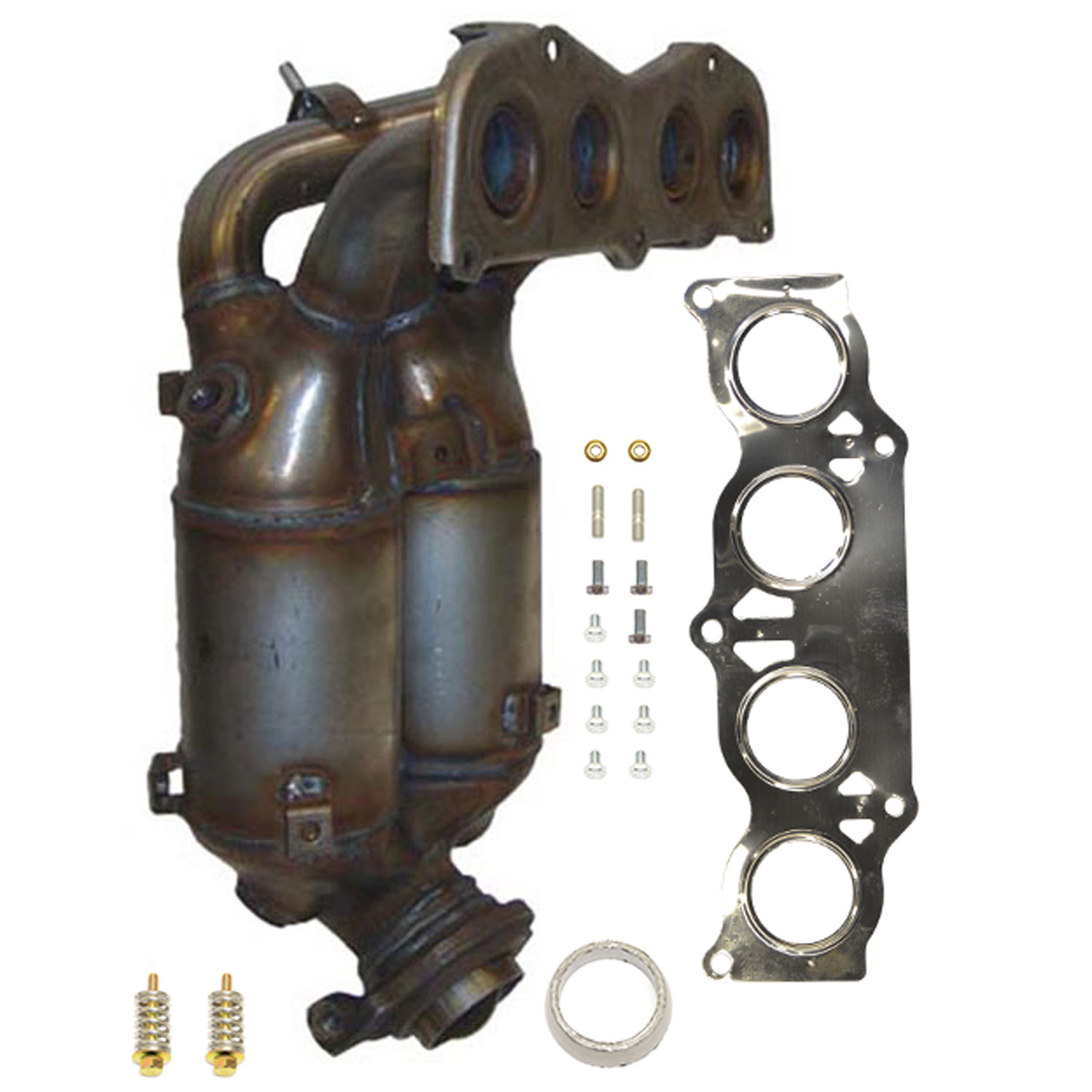 Exhaust Manifold with Integrated Catalytic Converter-Direct Fit Left Eastern Mfg