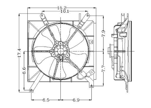 1991 honda accord engine cooling fan assembly gp 2811245