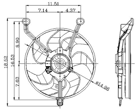 1993 Cadillac Allante Engine Cooling Fan Assembly