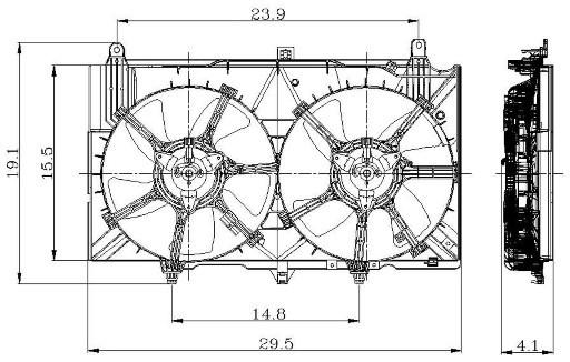 2004 Infiniti G35 Engine Cooling Fan Embly Gp 2811556