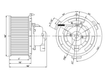 HVAC Blower Motor Front TYC 700094