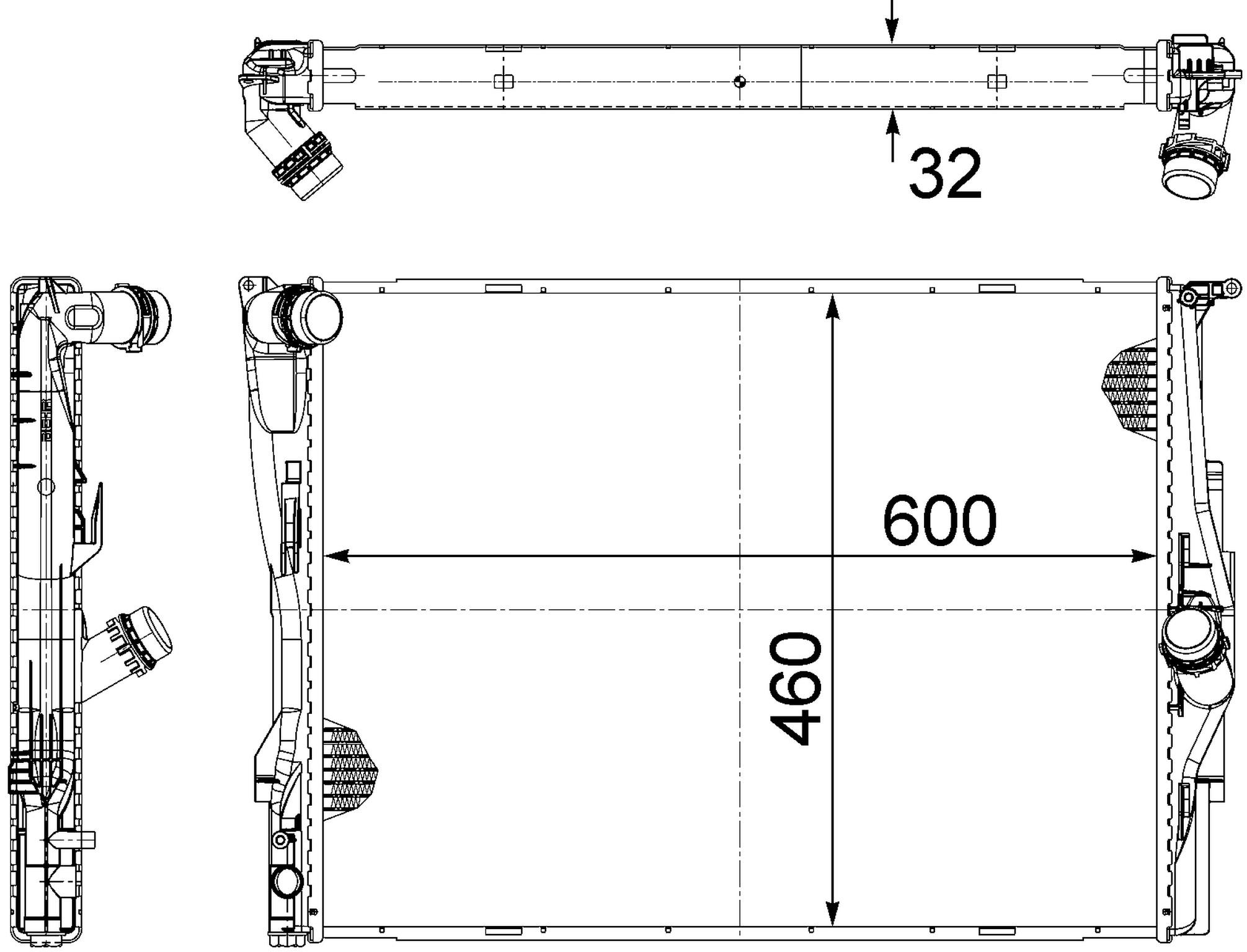 2011 Bmw 328i Radiator Xdrive Engine Diagrams Hl 376754061