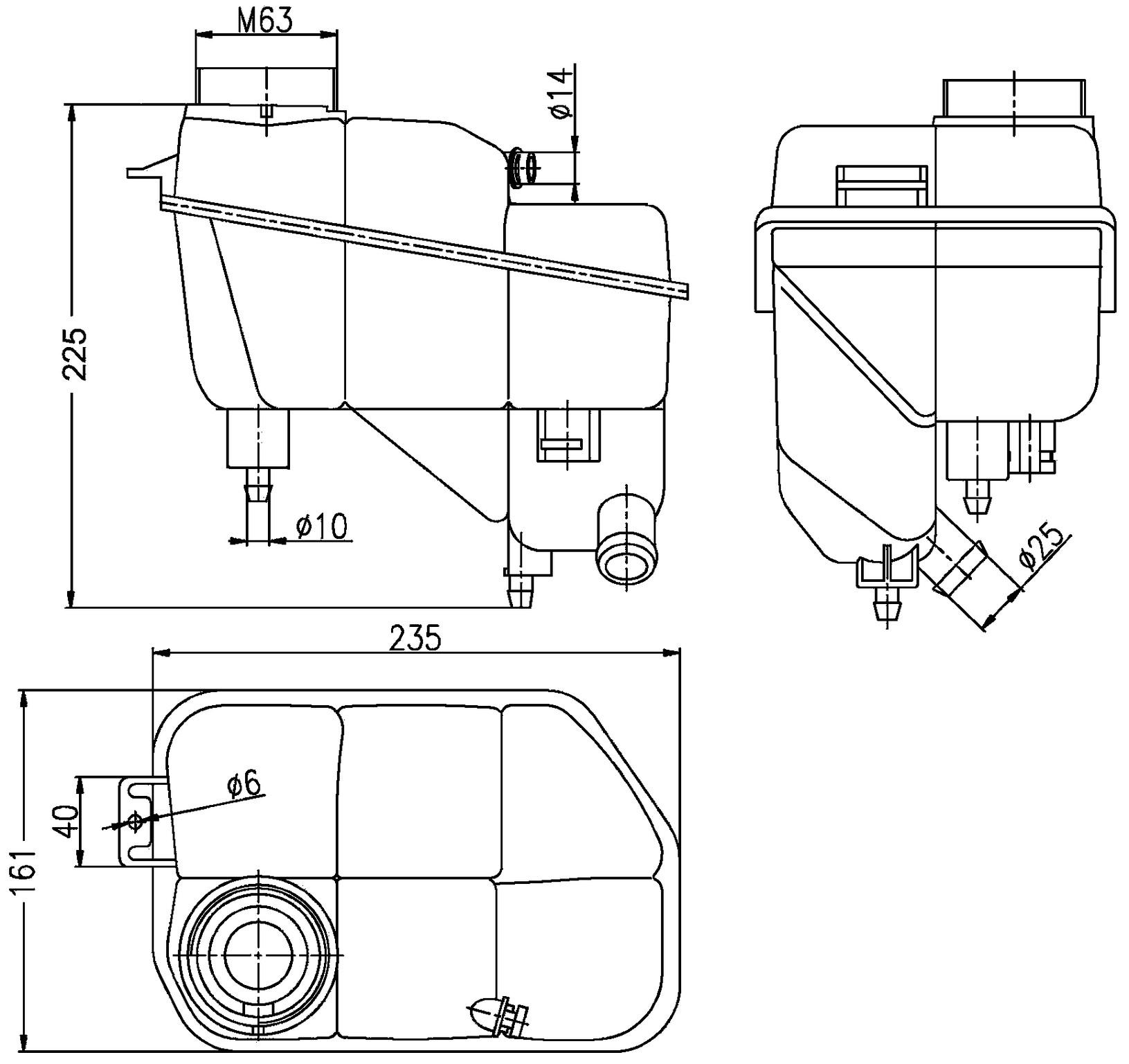 2005 Mercedes-Benz E320 Engine Coolant Reservoir HL 376789701