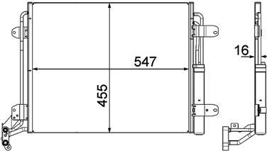 A/C Condenser HL 351303461