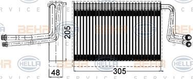 2004 BMW 325i A/C Evaporator Core HL 351331261