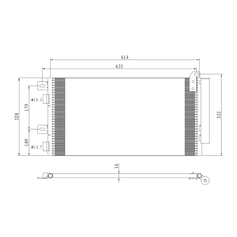 New A//C Condenser CN 3254PFC 64531490572 Cooper