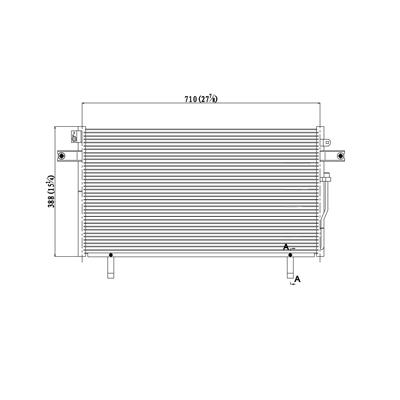 Pathfinder QX4 921100W710 New A//C Condenser CN 4810PFC