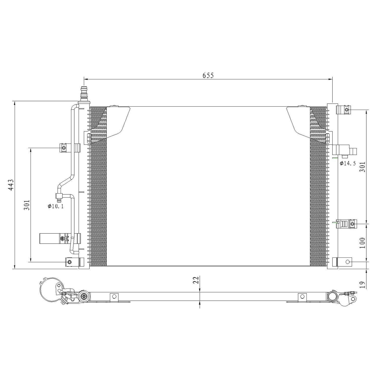 A//C Condenser Performance Radiator 3077