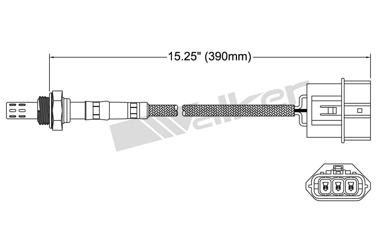 Walker Products O2 Oxygen Sensor DOWNSTREAM New for Nissan Altima 250-24434