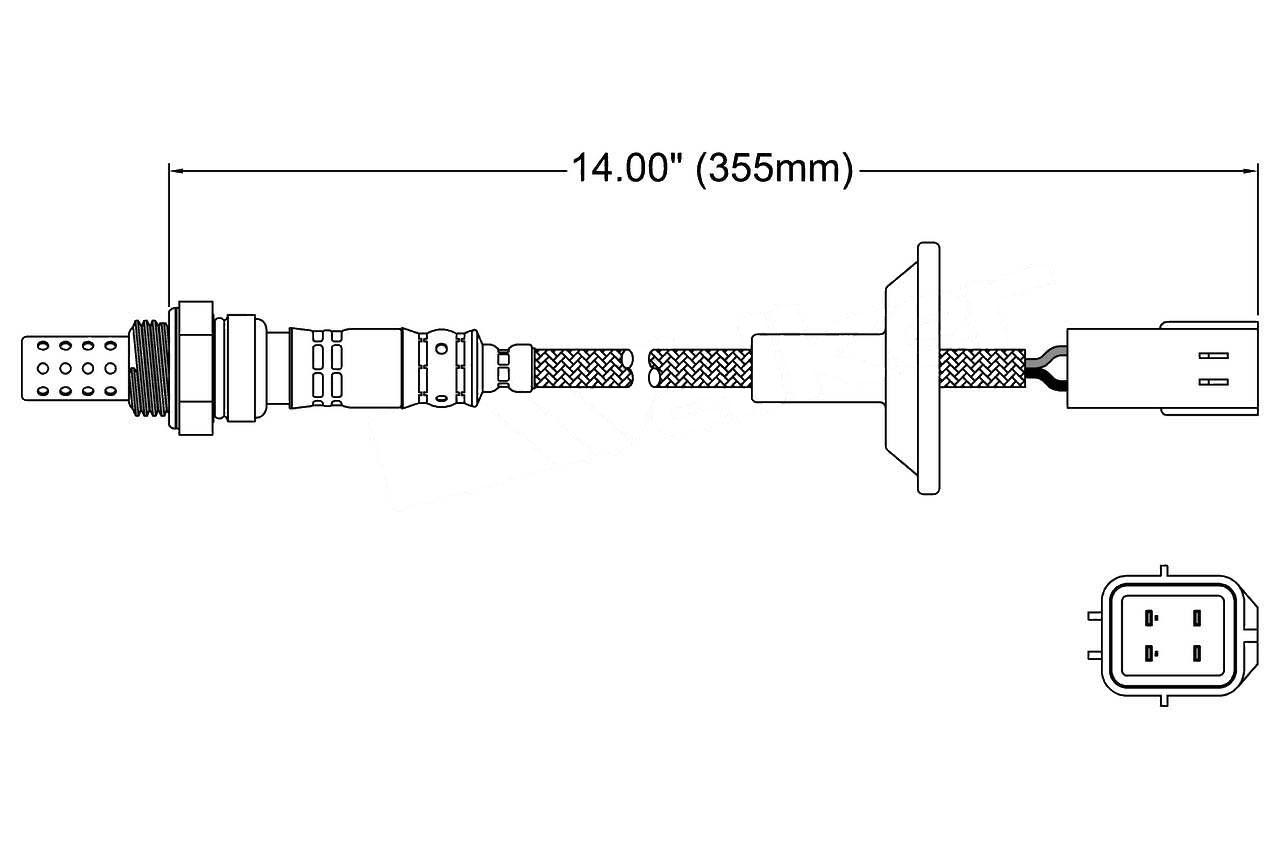 Spark SG155 Oxygen O2 Sensor UPSTREAM