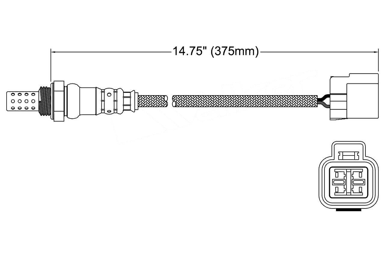Walker Products 250-24349 4 Wire Oxygen Sensor