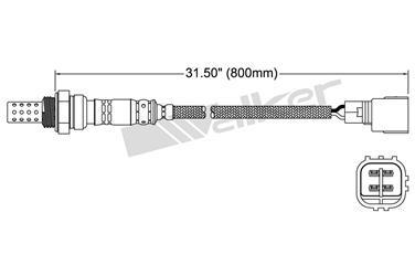 2001 Lexus GS300 Oxygen Sensor Upstream Walker 250-24137