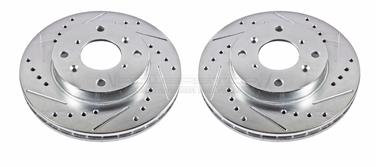 2000 Honda Accord Disc Brake Rotor Set P8 JBR797XPR