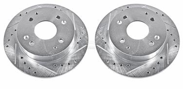 2000 Honda Accord Disc Brake Rotor Set P8 JBR799XPR