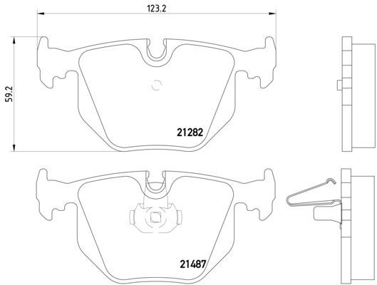 1995 bmw 750il disc brake pad set autopartskart 2011 BMW 750iL 1995 bmw 750il disc brake pad set pa 355008091