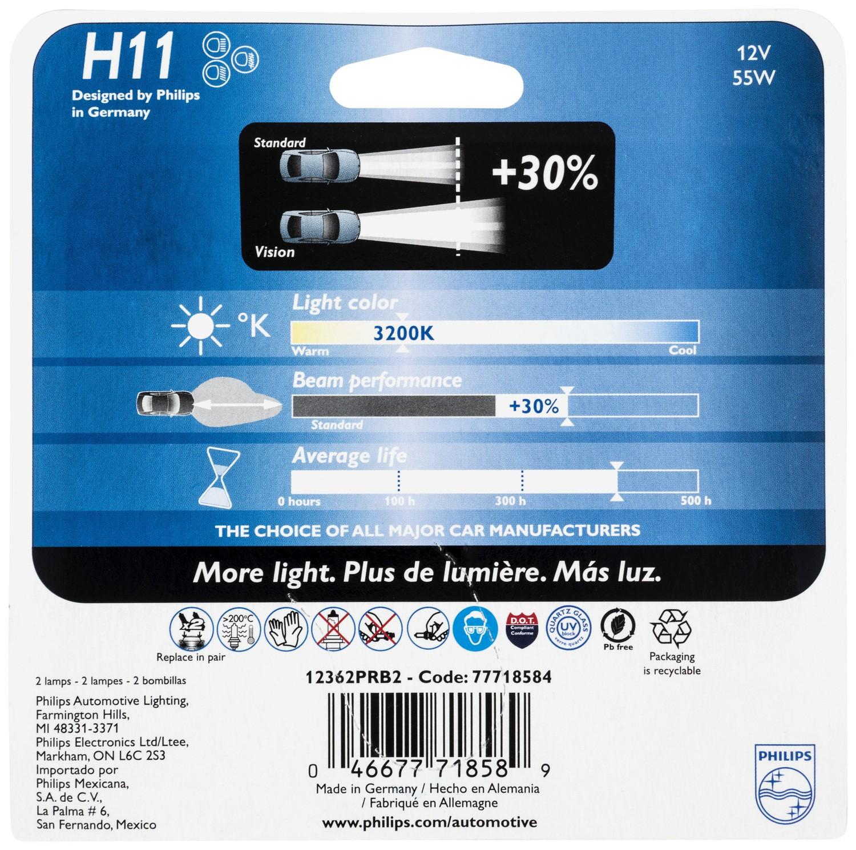 Headlight Bulb-Base Philips H11PRB2