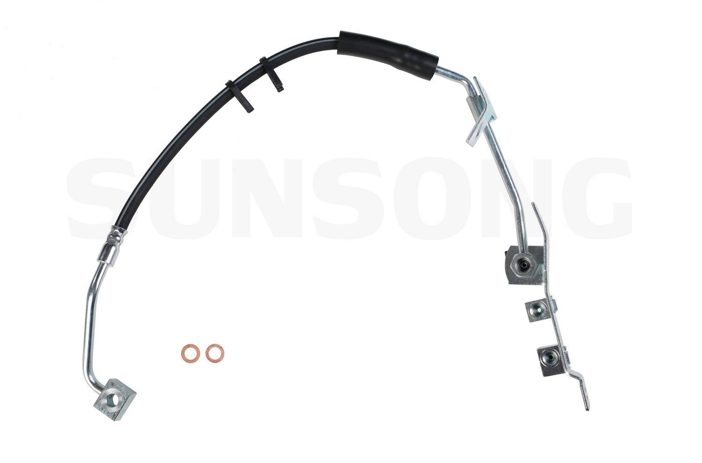 Brake Hydraulic Hose Front Left Sunsong North America 2203581