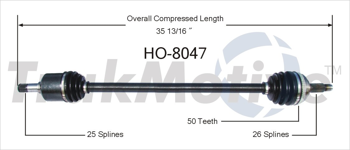 CV Axle Assembly-CV Joint Half Shaft Front Right Reman USA Ind AX-28439
