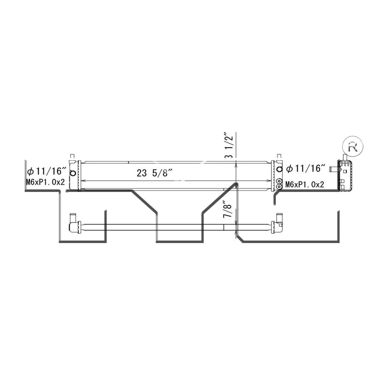 Radiator Inverter Cooler For Toyota Prius V 1.8 13436