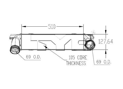 2012 bmw 335i intercooler ty 18008