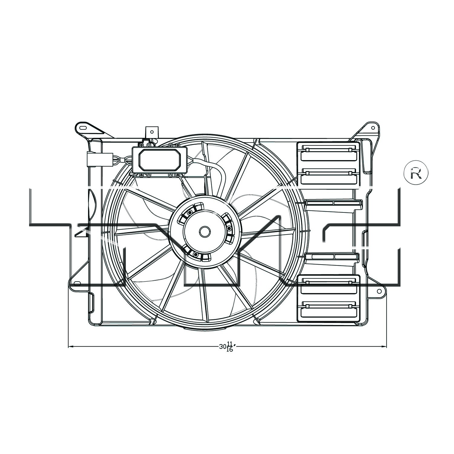 2013 Ford Edge Dual Radiator And Condenser Fan Assembly Schematic Ty 623140