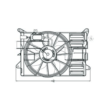 2013 Ford Edge Dual Radiator And Condenser Fan Assembly