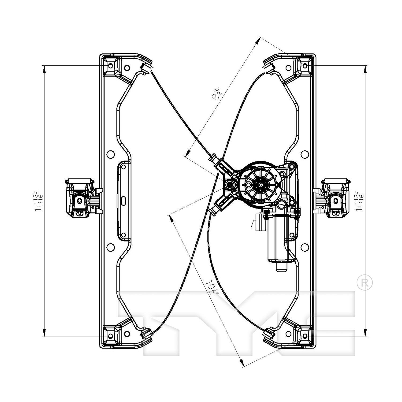 2008 Chevrolet Hhr Power Window Motor And Regulator Assembly Chevy Diagram Ty 660418