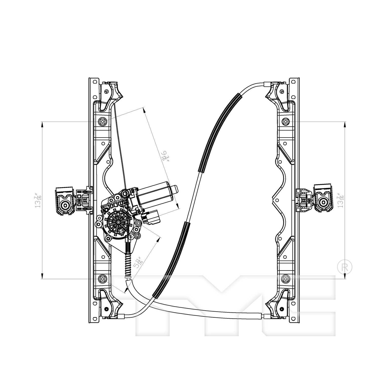 2009 Jeep Grand Cherokee Power Window Motor And Regulator Assembly Engine Diagram Ty 660429