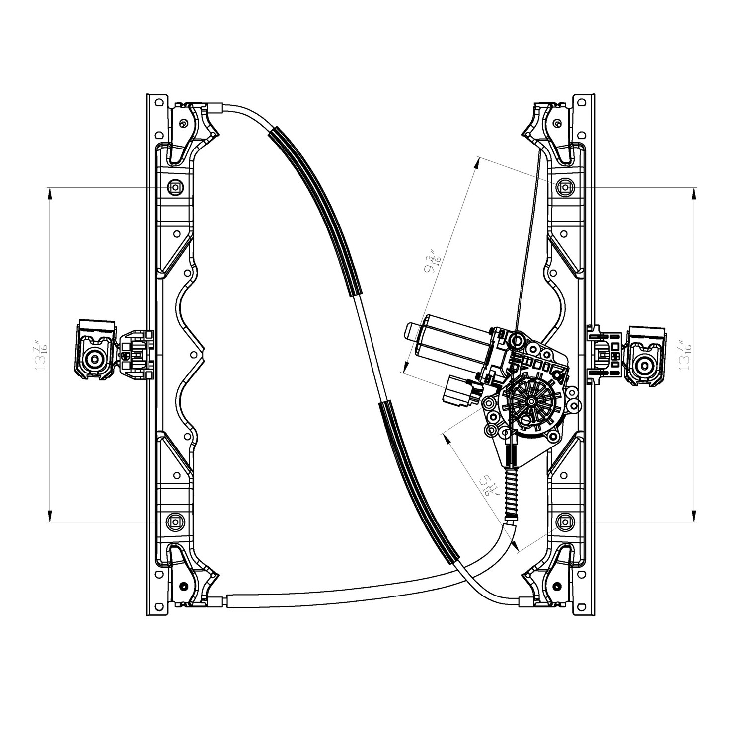 2009 Jeep Grand Cherokee Power Window Motor And Regulator Assembly Engine Diagram Ty 660430