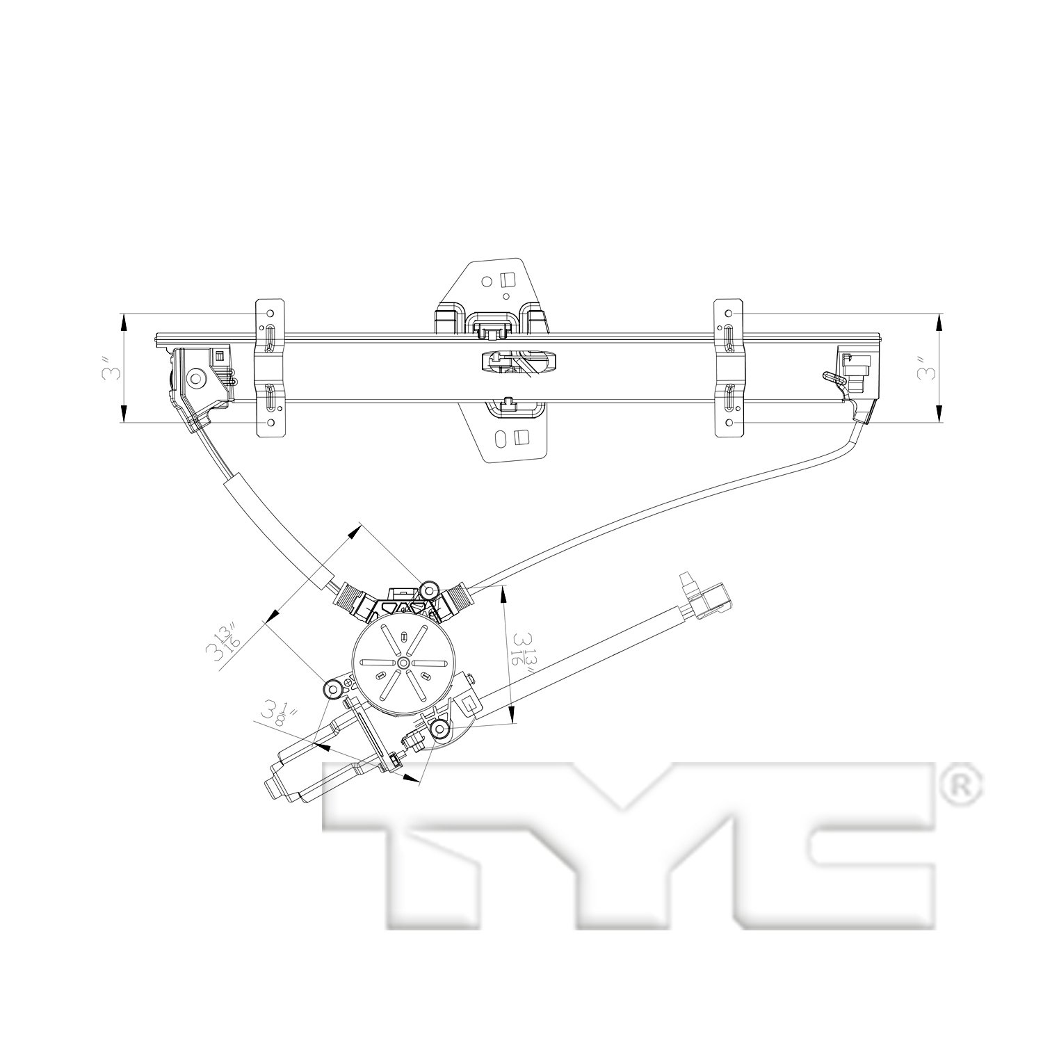 ... 2003 Acura MDX Power Window Motor and Regulator Assembly TY 660555 ...
