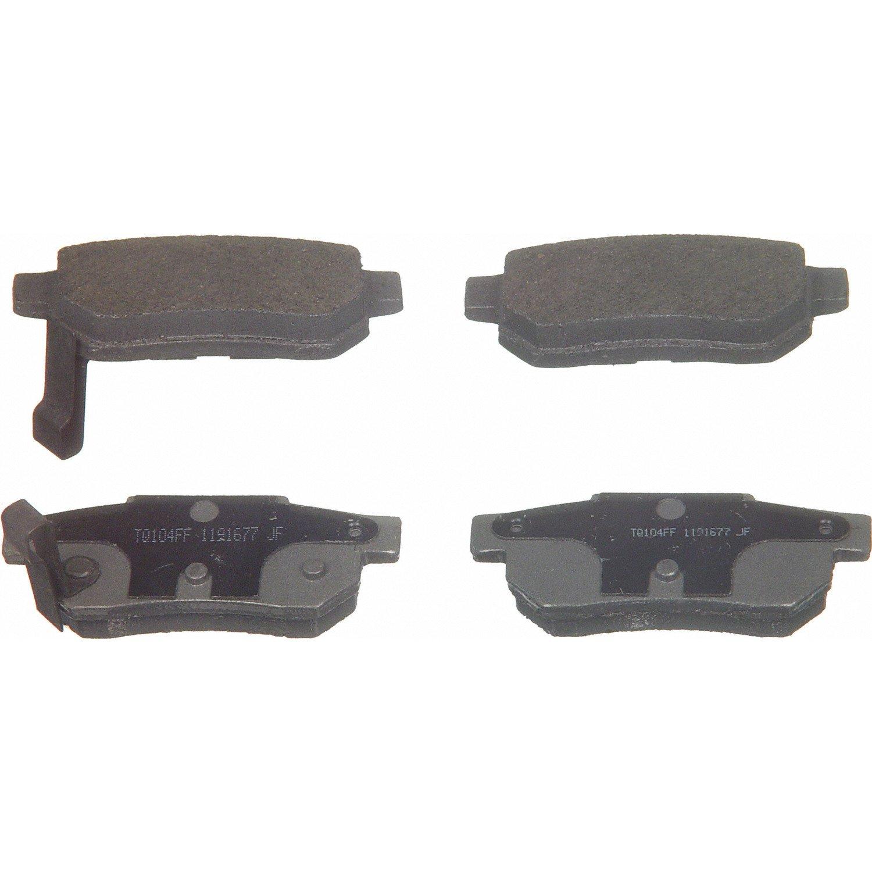 + Hardware Kit LOW DUST 105.03340 FRONT SET Posi Quiet Ceramic Brake Disc Pads