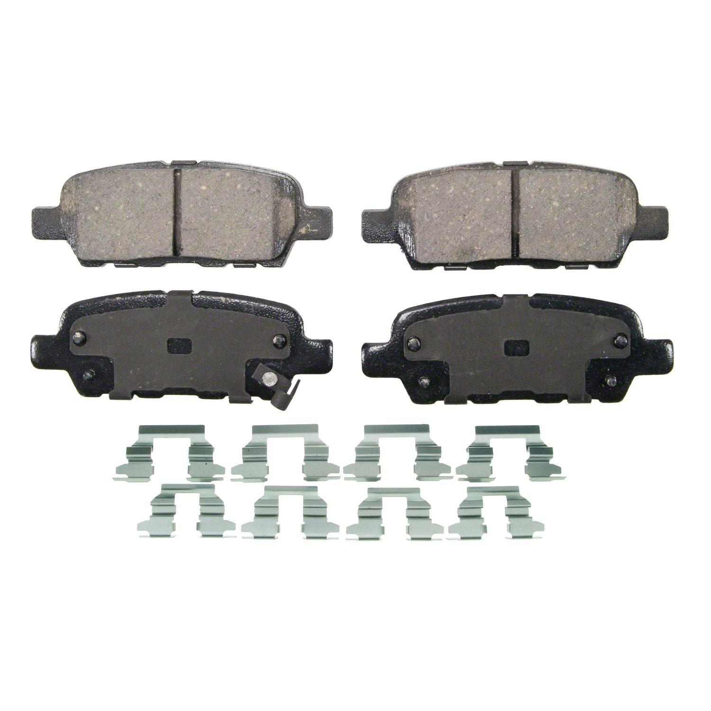 LOW DUST 105.13380 FRONT SET Posi Quiet Ceramic Brake Disc Pads + Hardware Kit
