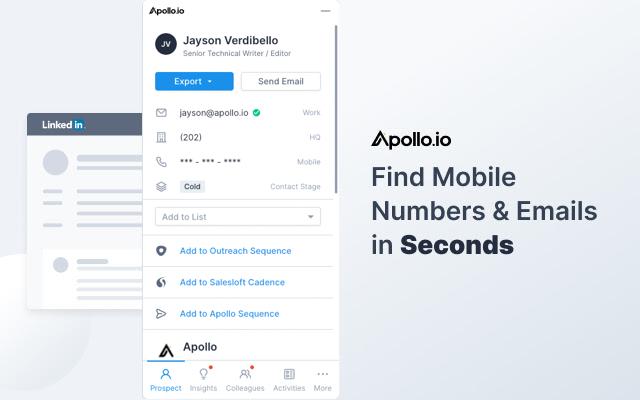 Apollo Chrome Extension