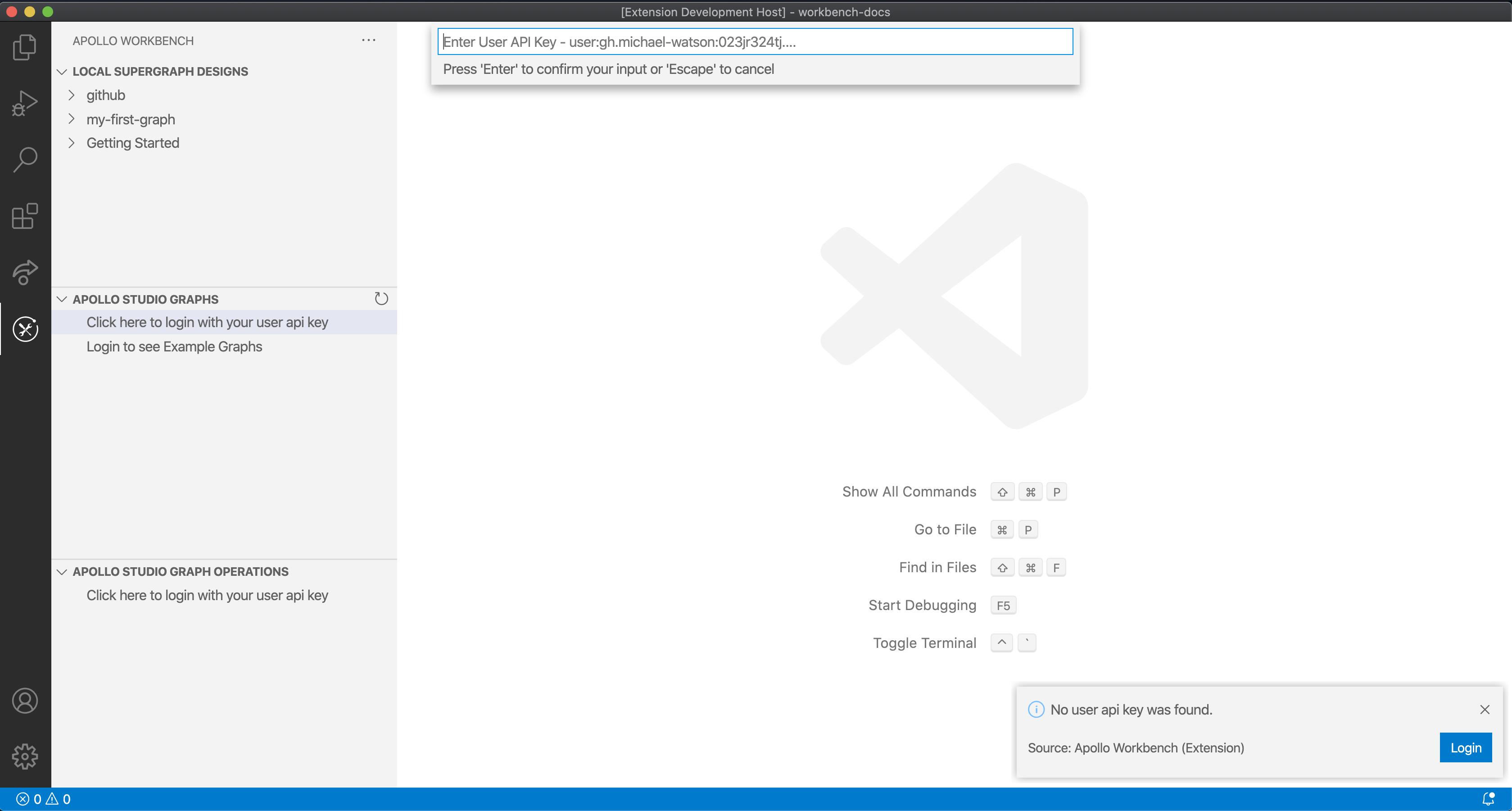 Enter Apollo User API Key