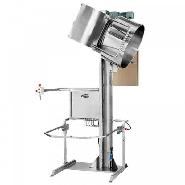 Dough Bowl Lift BL for dough hanling lifting and tipping in bakery make-up dough lines Glimek