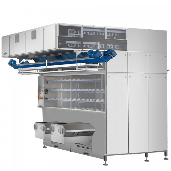 Intermediate pocket proofer for industrial bakeries - flexible pocket proofer in stainless steel with modular layout